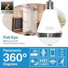 HD 1080P P2P LED Light Bulb VR Wireless IP Camera WiFi Panoramic CCTV Hidden Cam