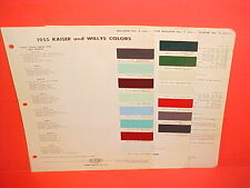 1955 KAISER MANHATTAN WILLYS JEEP CJ-3B 5 STATION WAGON PICKUP TRUCK PAINT CHIPS