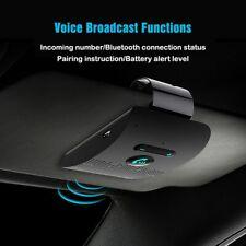 Bluetooth Handsfree Car Kit Sun Visor Audio Receiver phone Speaker Music Player