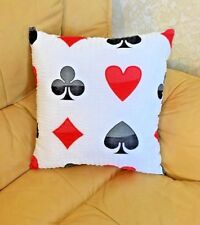 Playing card Poker Pillow Game Room cushion Decorative Sofa 100%cotton 18''x18''