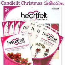 Heartfelt Creations Christmas Candlelit I Want It All 4 Dies 3 Stamps + 3D Mold