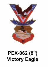 """VICTORY EAGLE Embroidered Military Extra Large Patch (8"""")"""