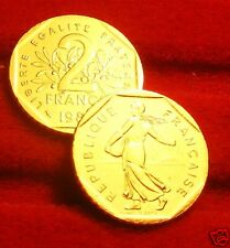 OR/GOLD  PL  24 K     2    FRANCS    SEMEUSE    1980   RARE  EDITION  LIMITEE