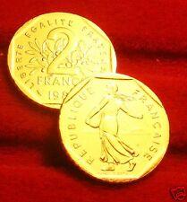 OR/GOLD  PL  24 K     2    FRANCS    SEMEUSE    1981   RARE  EDITION  LIMITEE