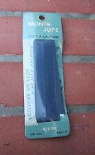 Ancienne ceinture pour jupe en biais en nylon bleu marine, mercerie - couture