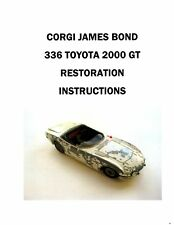 Corgi 336 - James Bond GT Color Restoration Instructions