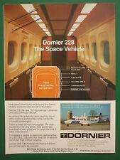 5/1981 PUB DORNIER 228-100 228-200 AIRCRAFT FLUGZEUG PARIS AIRSHOW ORIGINAL AD