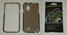 Grey / Smoke Hard Plastic Case & Screen Protector For Samsung Fascinate i500