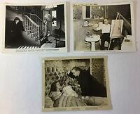 1945 SCARLET STREET vintage movie 8x10 photographs ~ lot of 3~ EDWARD G ROBINSON