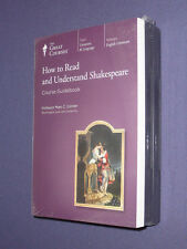 Teaching Co Great Courses CDs           HOW TO READ UNDERSTAND SHAKESPEARE  new