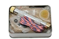 Fire Piston Kit- Firestarter Kit with Char Cloth, Cord, and Tinder