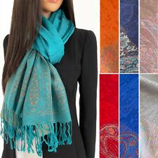 Große Paisley Pashmina Shawl Wrap Abend Schal lang Baumwolle Regenbogen Damen Geschenk