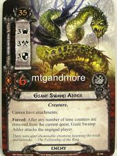 Lord of the Rings LCG  - 1x Giant Swamp Adder  #104 - The Nin-In-Eilph