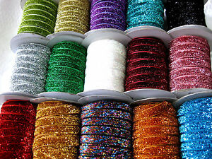 5 m Lurexband,Glitzerband,Farbe wählbar, 10mm breit,  (2) (0,96€ pro Meter)
