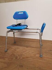 Gateway Premium Sliding Bath Transfer Bench with Swivel Padded Seat Adj. Height