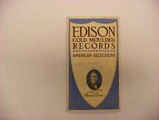 Original Edison Phonograph Catalog  - Edison Records December, 1907 Form 1220