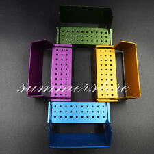 Dental Bur Burs Holder Block Disinfection Box Aluminium Autoclave 30 Holes