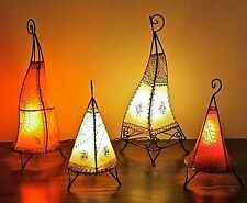 Small Moroccan Leather Lamp Arabci African Handmade Electric