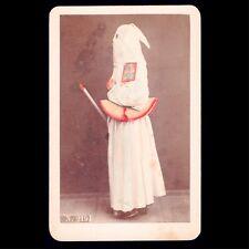 Rare Unusual Victorian CDV Photo Covered Face Italian Monk KKK Secret Society