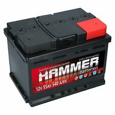 Autobatterie Hammer 12V 55Ah Starterbatterie WARTUNGSFREI TOP ANGEBOT NEU