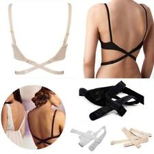100%NEU 3x Damen BH-Träger BH Verlängerung Rückengurt Rückenkonverter rückenfrei
