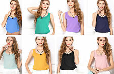 Semi Fitted Casual Sleeveless Tops & Shirts for Women