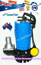 TSURUMI HSZ2.75S Auto Vortex Submersible Stormwater Sump Pump Allow Sand through