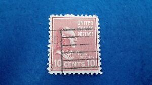 Stamp United States 10 Cents John Tyler 1938, Scott 815. Stamp U.S.Postage