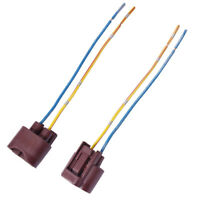H8 female Heat Resistance Headlight Wiring lamp holder socket plug X2
