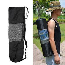 Adjustable Strap Nylon Yoga Pilates Mat Carrier Bag Mesh Center Case Portable