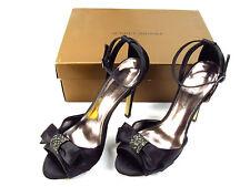 d2ee5b665f Audrey Brooke Women Open Toe Shoes Heels Sandals Sz 6.5 Black 4-1/4