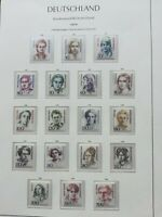 WEST GERMANY 1986-89 FAMOUS GERMAN WOMEN 17  stamps MNH**VF in album page