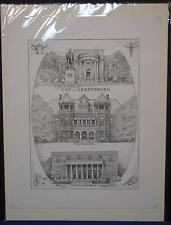 UNCG University of North Carolina Greensboro Micheal James Signed Numbered Print