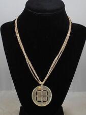 Fossil Brand Goldtone Signature Cutout Medallion Pendant Necklace JA1641 $32