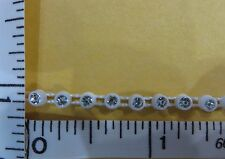 Rhinestone Trimming Sew on with Plastic cup base, Plastic Trim Glass Stone 2yd