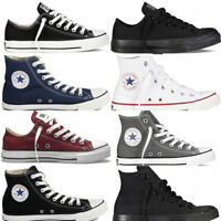 Converse Mens Womens Chuck Taylor All Star Hi Tops Unisex Canvas Trainers