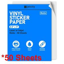 50 Matte Stickerlabel Paper For Inkjet Amp Laser Printers 50 Matte 85 X 11