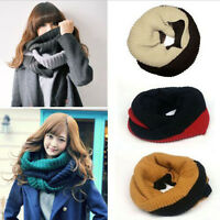 Winter Warm Women Fashion Knit Neck Circle Wool Cowl Snood Long Scarf Shawl Wrap