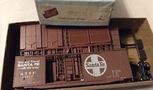 ! FRONT RANGE 40' ATSF 17617 BoxCar HO  SHIP & TRAVEL SANTA FE all the way NOS