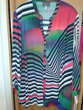 Sempre piu by Chalou modisches Damen langarm Shirt schwarz bunt große Größen