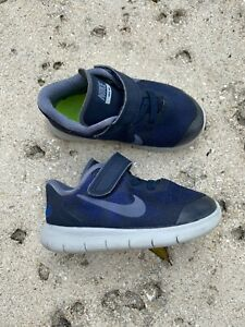 navy NIKE shoes toddler boy sz 7 WORN2WEEKS mesh clean EUC