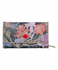 Oilily Long Tri-Fold Zip Wallet Fig  NWT