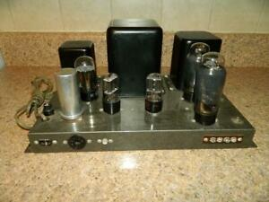 Vintage Heathkit Tube Amplifier Model W-4 AM Complete With All Tubes Very Clean