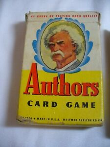 VINTAGE AUTHORS CARD GAME, WHITMAN #3010, MARK TWAIN ON COVER COMPLETE