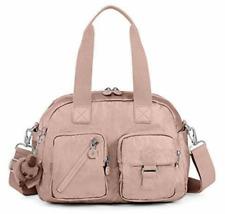 KIPLING DEFEA Handbag Travel Shoulder CrossBody Bag ROSE  Gold Metallic, NWT