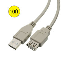 New 10ft 3M Foot USB 2.0 Extension Cable Male Type A to Female Cord Adapter