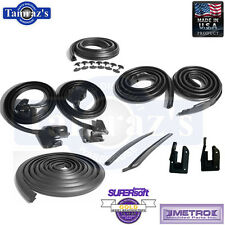 69-72 Buick Chevy Olds A Body Weatherstrip Seal Kit 10 Pc 2 Door Hardtop WO Post