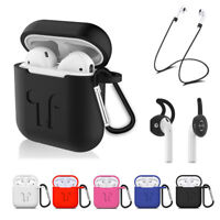 Silicone Shockproof Case Cover & Ear Hooks For Apple Airpods Sports Accessories