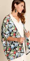 Umgee Floral Velvet Burnout Kimono Cardigan