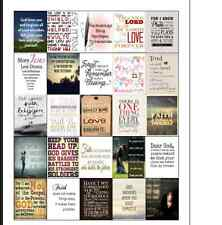 FAITH INSPIRATION - Daily Motivation Quote Stickers - EC Vertical and Horizontal